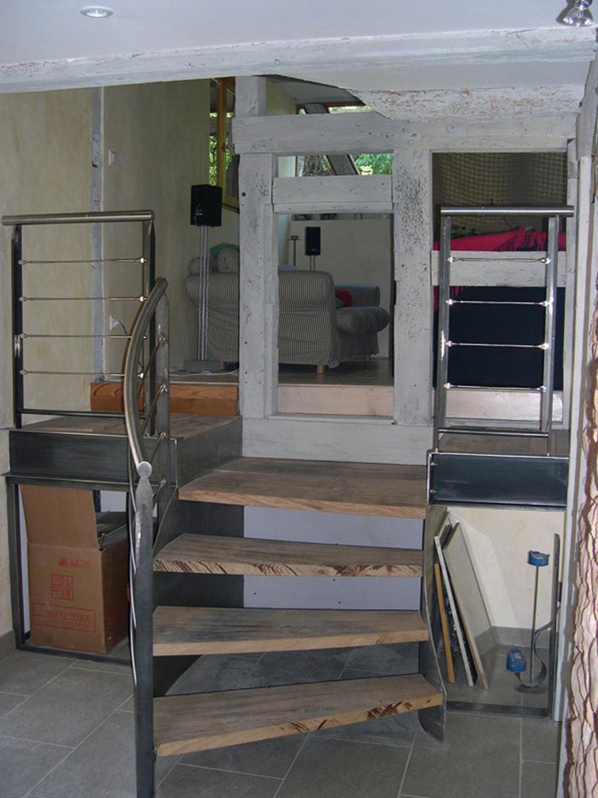 metalest alsace nordhouse escalier 3 marches. Black Bedroom Furniture Sets. Home Design Ideas